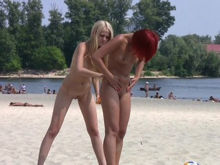 Lovely teens bare their...