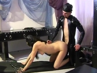 Bdsm Doggystyle Latex Skinny