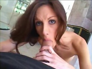 Skinny chick takes big cock in ass after BJ