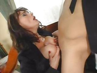 Prex Brunette Milf Eats His Coc...