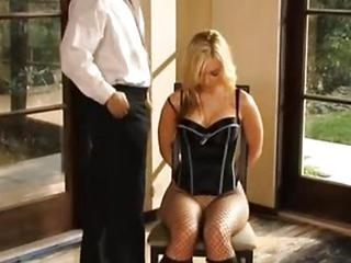 Blonde Fishnet  Pantyhose Pornstar