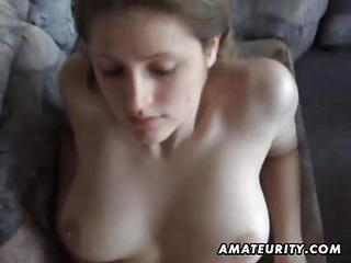 Busty Amateur Girlfriend Sucks A...