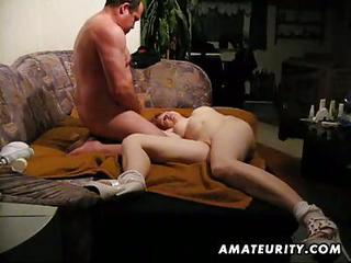 Old Fat Man Fucks Tight Redhead...