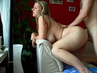 Chubby German milf gets ass fucked on homemade