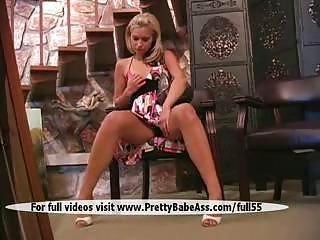 A massage blonde pussy and breasts