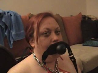 Today Master bought me a new deepthroat training toy It s a ballgag with a dildo attached to it He has me insert it backwards so the dildo goes down my throat It doesn t take long at all for me to accommodate this intruder to my throat and a fee