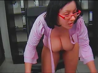 Babe Big Tits Glasses Natural