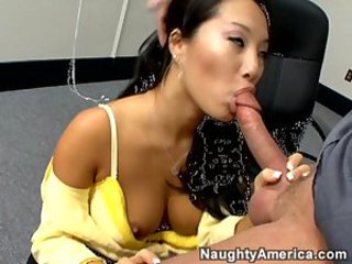 Amazing Asian  Blowjob Interracial  Pornstar