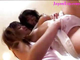 Lesbian Friend Fingered To Orgasm in Japanese Kitchen