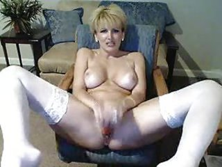 Blonde Masturbating  Solo Stockings Webcam