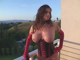 Big Tits Corset Latex  Outdoor