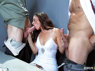India Summers Gets Her Mouth Stuffed With Hard Cock