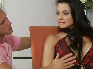 Gorgeous Busty Brunette Gets Fucked