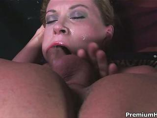 Hot Woman Sara Stone With Big Boobs Gets Her Throat Fucked With No Mercy By Man With Rigid Cock. She Takes His Meat Pole So Deep That Touches His Balls With Her Lips From Time To Time.