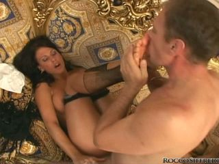 Rocco Siffredi fuck the hot babe and lick her feet