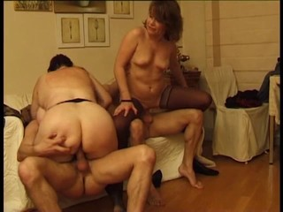 Granny Groupsex Riding Stockings