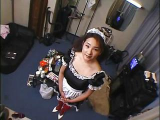 Japanese Maid Has To Pee And Be crazy