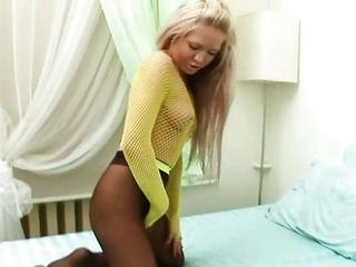 Cristal Masturbating Gash Through Her Nylon