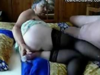 Dildo Granny Stockings