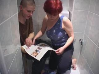 Mom And Son In Toilet