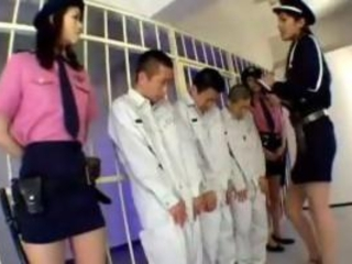 3 Jailer Girls In Uniform Raping 3guys Rubbing Jerki...
