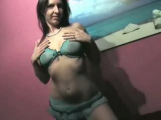 Lingerie And Spread Shaved Pussy