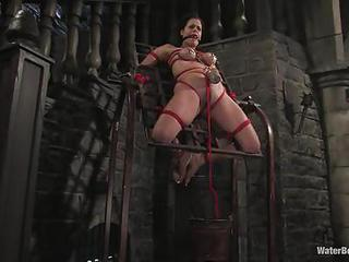 Clamped Slave Mia Bangg Gets Som...