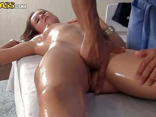 Oiled Up Brunette Penny With Sma...