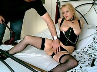 British Blonde Sub Whore Chained...