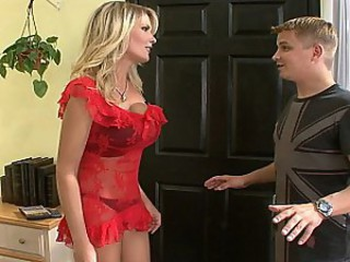 Amazing Big Tits Blonde Cute Lingerie  Mom