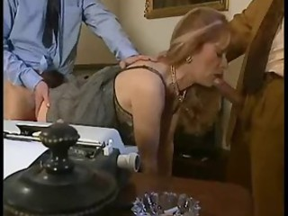 Blowjob Clothed Mature Threesome Vintage