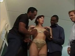 Squirting British Full-grown Interracial Gangbang