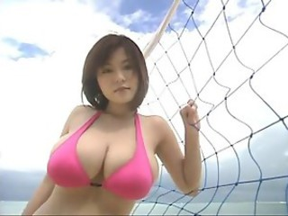 Asian Babe Big Tits Bikini Cute Japanese Outdoor