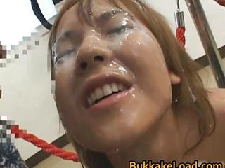 Asian Babe In Bukkake Action Part5