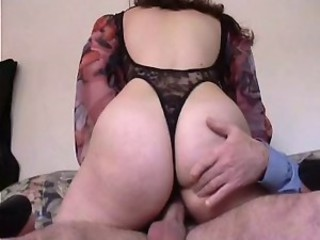 French hairy brunette for  first anal