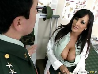 Amazing Big Tits Brunette Cute Doctor  Pornstar Uniform