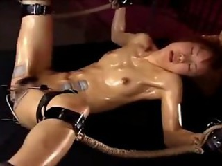 Japanese Unsubtle fucked to orgasms by Electro-Stimulation