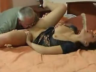 French Daughter Taboo family mating with Elderly man from France