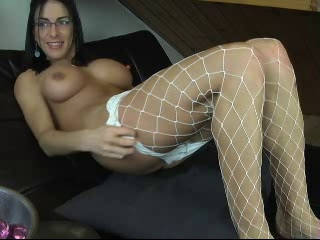 Big Tits Fishnet Glasses Masturbating  Webcam