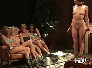 Four Girl Lesbian Sex Party