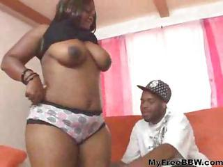 Big Tits Chubby Ebony  Natural Panty