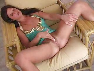 Spreading Her Legs To Rub Her Hot Clit