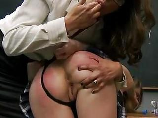 Bad Student Beauty Emily Addison Spanked...
