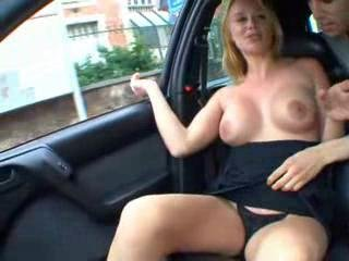 Amateur Big Tits Car  Public Smoking