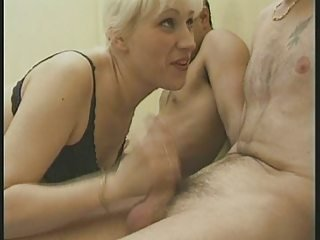 French MILF with 2 Guys