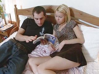 Blonde Russian Sister Skirt Teen