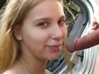 Blowjob Car Cumshot Outdoor Swallow Teen
