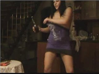 Crazy Dancing Webcam Girl