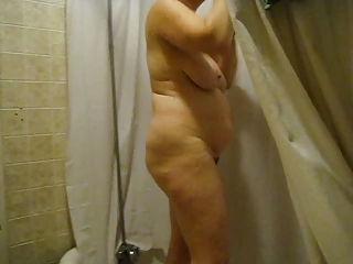 52yo Ann in the shower (Sunday #1) please comment