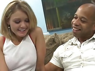 Sweet Blonde Tries Her First Black Cock - Cireman
